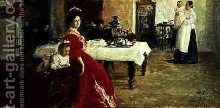 The Artist's Daughter, 1905 by Ilya Efimovich Efimovich Repin - Reproduction Oil Painting