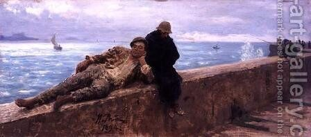 Study of Vagabonds, 1894 by Ilya Efimovich Efimovich Repin - Reproduction Oil Painting