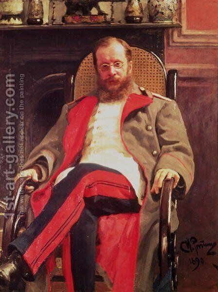 Portrait of Zesar Kjui (1835-1918), 1890 by Ilya Efimovich Efimovich Repin - Reproduction Oil Painting