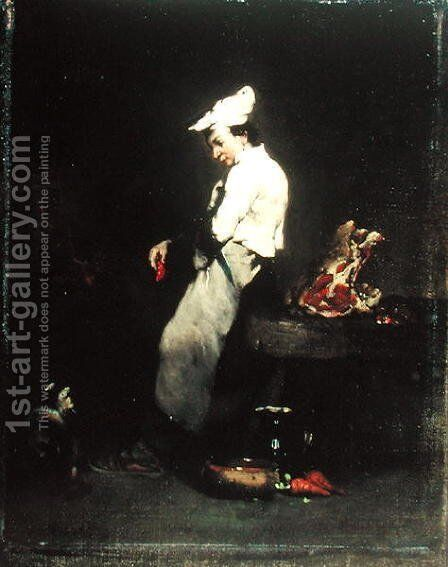 The Young Cook by Theodule Augustine Ribot - Reproduction Oil Painting