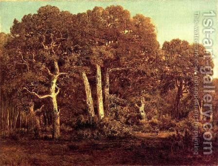 The Great Oaks of Old Bas-Breau, 1864 by Theodore Rousseau - Reproduction Oil Painting