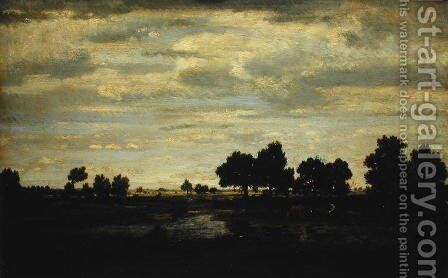 Landscape by Theodore Rousseau - Reproduction Oil Painting