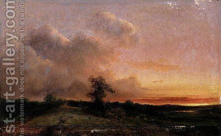 Sunset by Theodore Rousseau - Reproduction Oil Painting