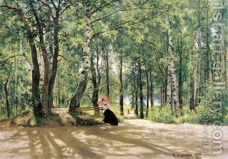 At the Summer Cottage, 1894 by Ivan Shishkin - Reproduction Oil Painting