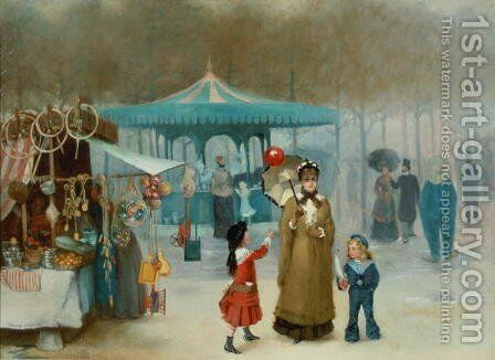 The Fairground by Henry Jones Thaddeus - Reproduction Oil Painting