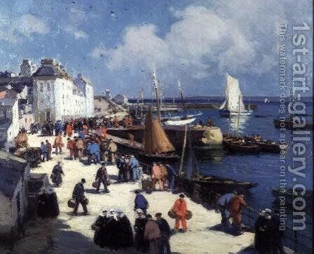 Douarnenez by Henri Alphonse Barnoin - Reproduction Oil Painting