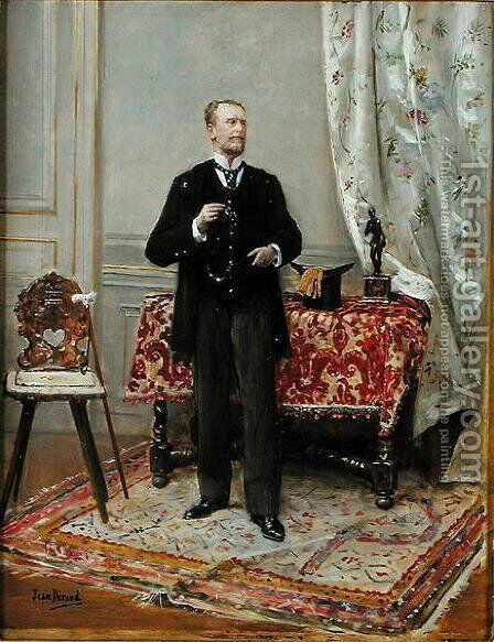 Edmond Taigny by Jean-Georges Beraud - Reproduction Oil Painting