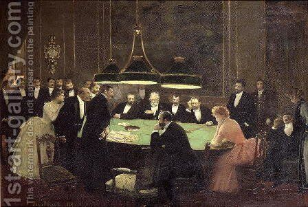 The Gaming Room at the Casino, 1889 by Jean-Georges Beraud - Reproduction Oil Painting