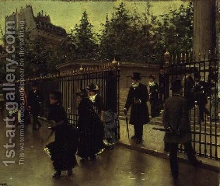 Leaving La Madeleine by Jean-Georges Beraud - Reproduction Oil Painting