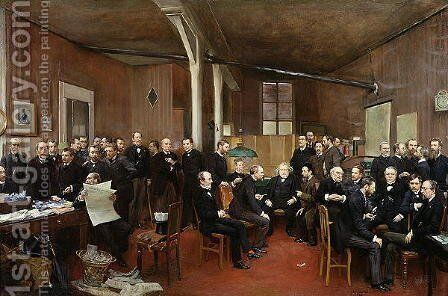 Le Journal des Debats, 1889 by Jean-Georges Beraud - Reproduction Oil Painting