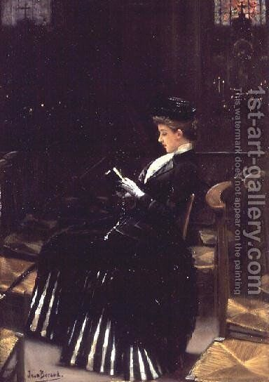 A Woman at Prayer, c.1889 by Jean-Georges Beraud - Reproduction Oil Painting