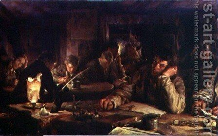 The Night School, 1892 by Edgar Bundy - Reproduction Oil Painting