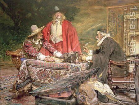 At the Usurers by Edgar Bundy - Reproduction Oil Painting