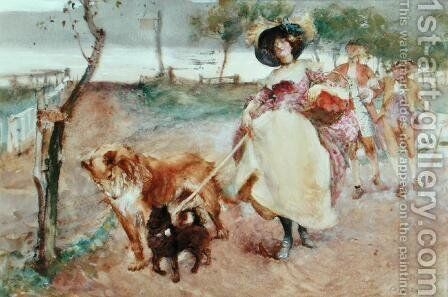 A Vigorous Outing by Edgar Bundy - Reproduction Oil Painting