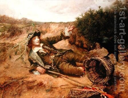 Fallen by the Wayside, 1886 by Edgar Bundy - Reproduction Oil Painting