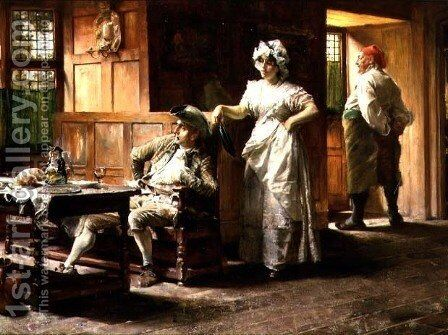 A Doubtful Customer by Edgar Bundy - Reproduction Oil Painting