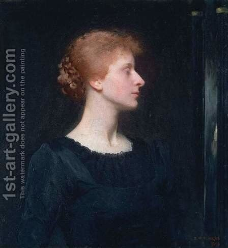 Jessica, 1890 by Dennis Miller Bunker - Reproduction Oil Painting