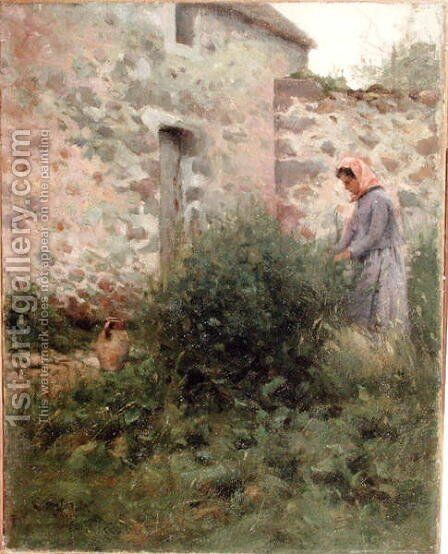 A Quiet Corner, 1882 by Charles Harold Davis - Reproduction Oil Painting