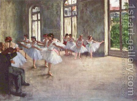 Ballet Rehearsal, 1873 by Edgar Degas - Reproduction Oil Painting