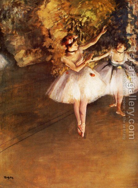 Two Dancers on a Stage, c.1874 by Edgar Degas - Reproduction Oil Painting