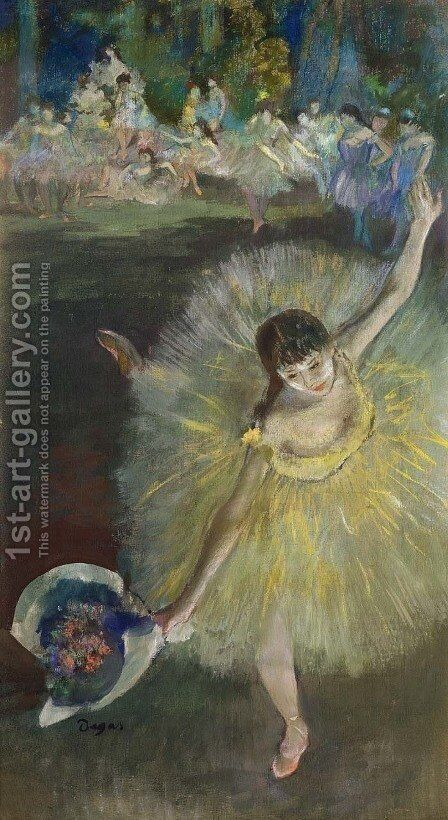 End of an Arabesque, 1877 by Edgar Degas - Reproduction Oil Painting
