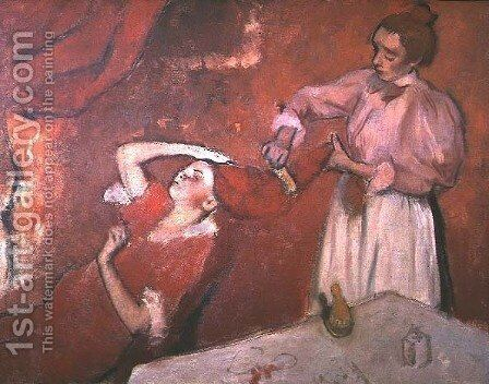 Combing the Hair, 1892-95 by Edgar Degas - Reproduction Oil Painting