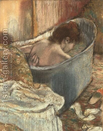 The Bath by Edgar Degas - Reproduction Oil Painting