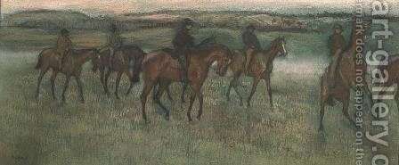 Racehorses by Edgar Degas - Reproduction Oil Painting