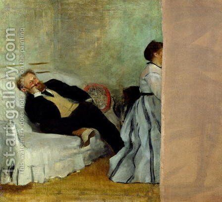 Monsieur and Madame Edouard Manet, 1868-69 by Edgar Degas - Reproduction Oil Painting