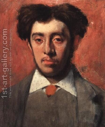 Portrait of Albert Melida by Edgar Degas - Reproduction Oil Painting
