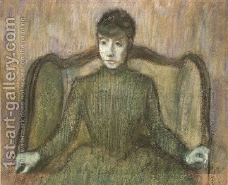 Woman Sitting in an Armchair, c.1864 by Edgar Degas - Reproduction Oil Painting