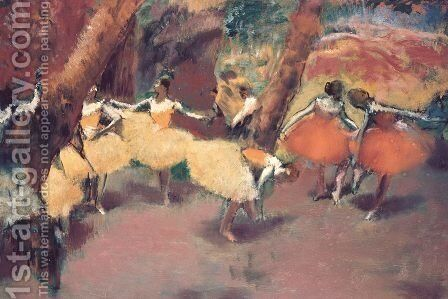 Before the Performance, c.1896-98 by Edgar Degas - Reproduction Oil Painting