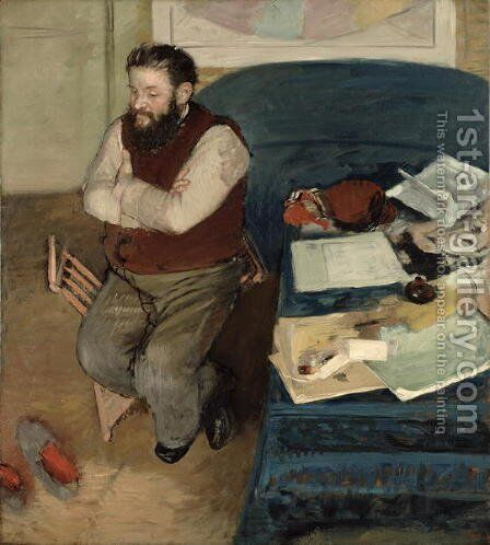 Portrait of Diego Martelli, 1879 by Edgar Degas - Reproduction Oil Painting