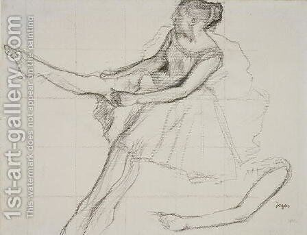 Dancer adjusting her tights, c.1880 by Edgar Degas - Reproduction Oil Painting
