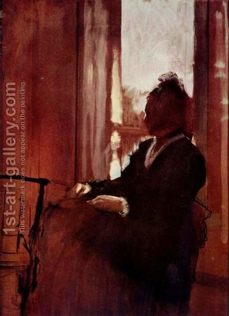 Woman at a Window, c.1871-2 by Edgar Degas - Reproduction Oil Painting