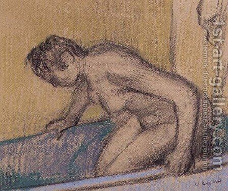 In the Bath, c.1883 by Edgar Degas - Reproduction Oil Painting