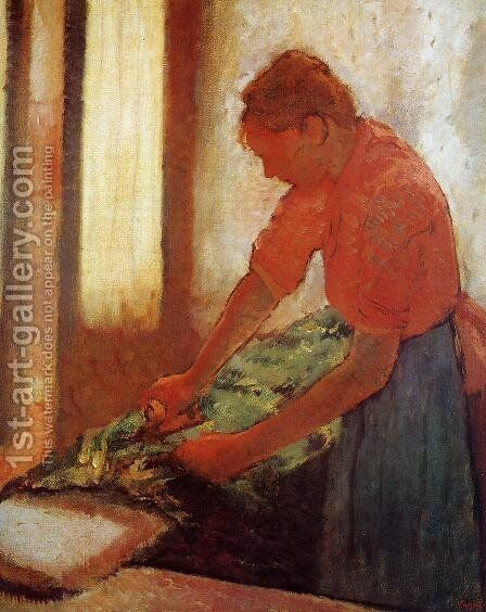 Woman Ironing, c.1885 by Edgar Degas - Reproduction Oil Painting