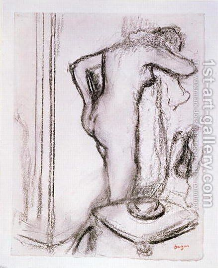 Woman at her Toilet, c.1890 by Edgar Degas - Reproduction Oil Painting