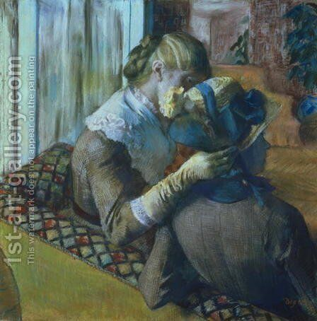 Two Women by Edgar Degas - Reproduction Oil Painting
