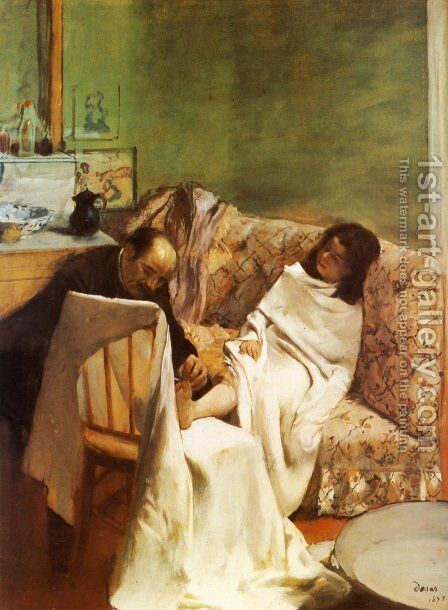 The Pedicure, 1873 by Edgar Degas - Reproduction Oil Painting