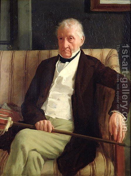 Portrait of Hilaire Degas (1770-1858), grandfather of the artist, 1857 by Edgar Degas - Reproduction Oil Painting
