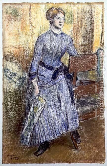 Portrait of Helene Rouart (Mme. Marin) 1886 by Edgar Degas - Reproduction Oil Painting