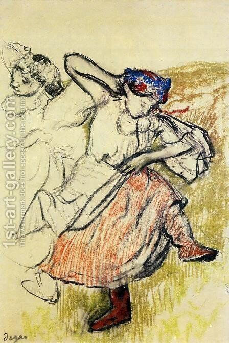 Russian Dancers, c.1899 by Edgar Degas - Reproduction Oil Painting