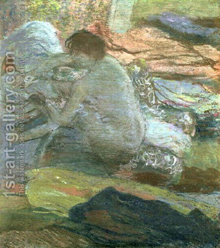 Seated Woman Drying Her Feet, c.1893 by Edgar Degas - Reproduction Oil Painting
