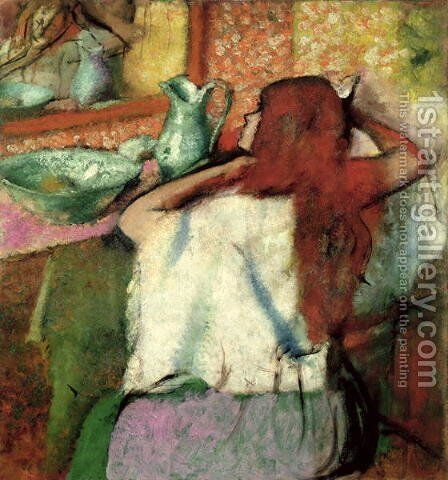Woman at her Toilet, c.1895-1900 by Edgar Degas - Reproduction Oil Painting