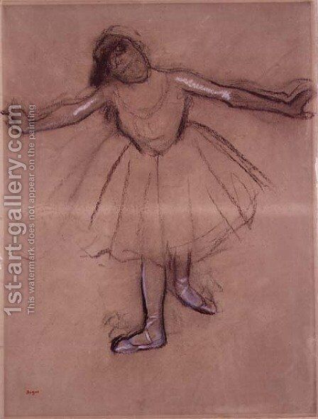 Front-view of Dancer, c.1877 by Edgar Degas - Reproduction Oil Painting