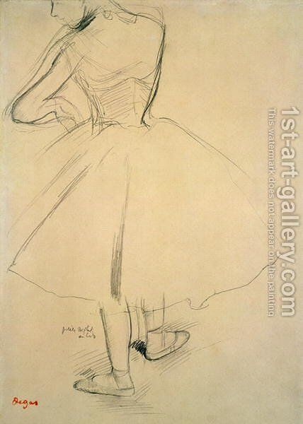 Ballet Dancer from Behind by Edgar Degas - Reproduction Oil Painting
