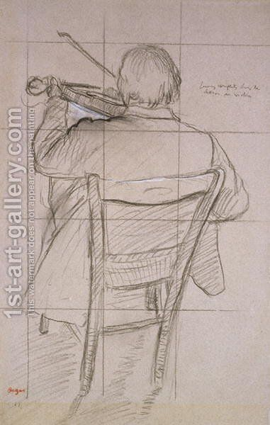 Study of a Violinist Seen from the Back by Edgar Degas - Reproduction Oil Painting