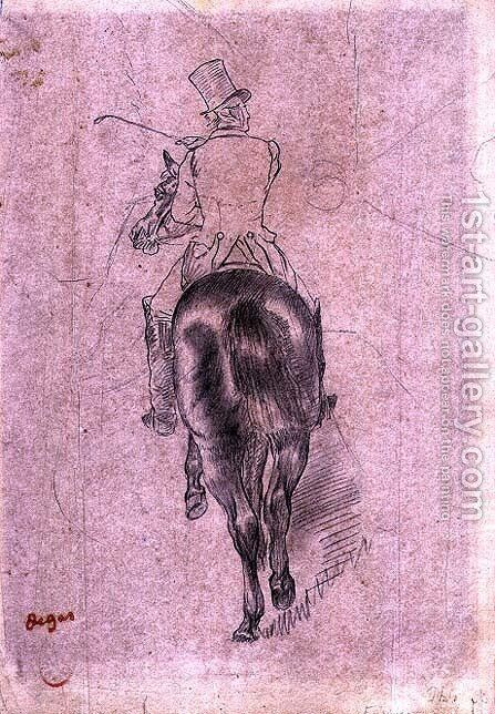 Huntsman on a Horse by Edgar Degas - Reproduction Oil Painting