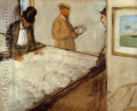 Cotton Merchants in New Orleans, 1873 by Edgar Degas - Reproduction Oil Painting